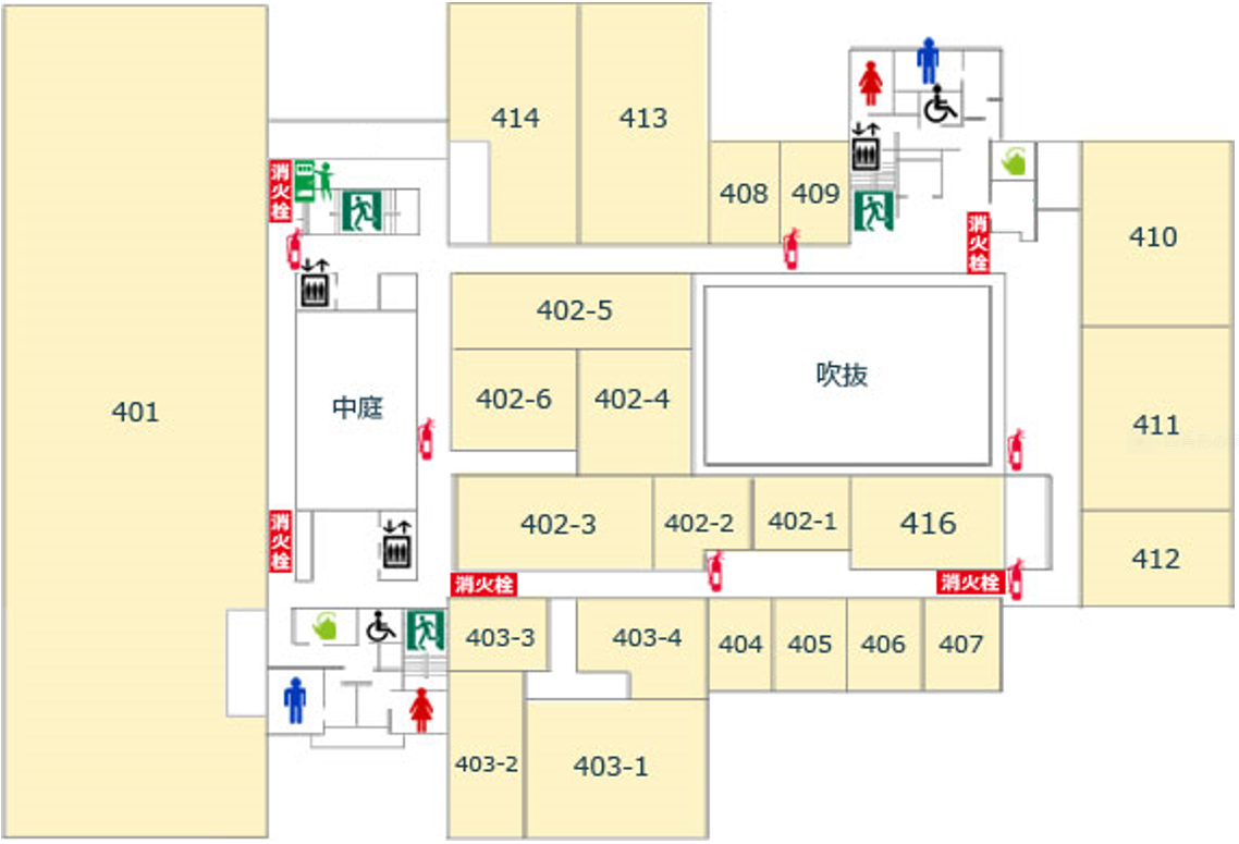4階避難経路図