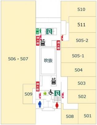 5階避難経路図