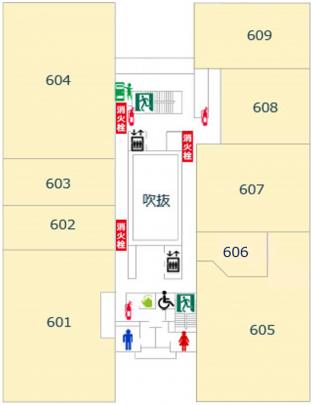 6階避難経路図