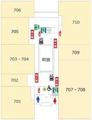 7階避難経路図